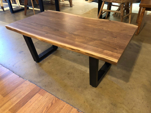 Live edge walnut wood coffee table 42