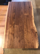 "Live edge walnut wood coffee table 42"" x 24"""