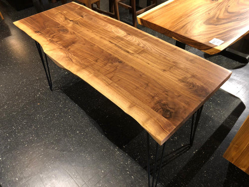 Live edge walnut wood desk 60