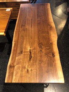 "Live edge walnut wood desk 60"" x 25"""
