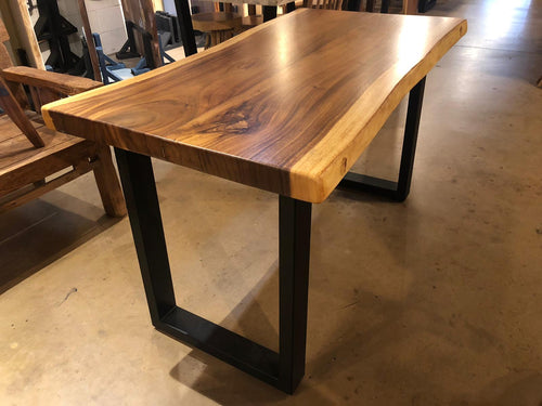 Live edge acacia wood slab desk 51.5