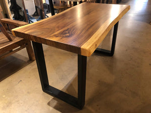 Live edge acacia wood slab desk 51.5""