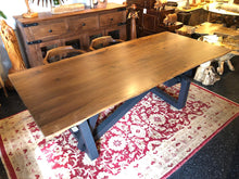 Live edge walnut wood slab dining table 88""