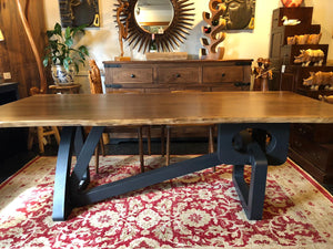 Art deco metal dining table base