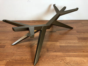 Mantis metal coffee table base brass finish