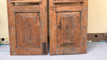 Reclaimed teak wood authentic window shutters set of 2 rustic style