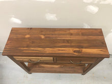 Reclaimed teak wood console table or cabinet for hallway or entry way rustic style 35.5 wide