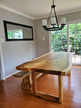 Live edge wood slab kitchen table