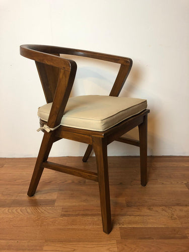 Urbana Mid Century Modern Dining Chair with Finishing + cushion