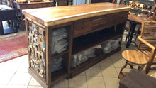 Custom counter height or bar height reception desk