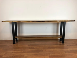 live edge console table virginia