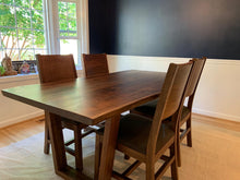 Live edge wood slab dining table