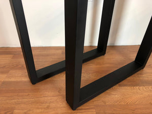 Rectangular metal dining table base 27.5""
