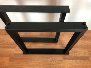 Rectangular metal desk base 20""