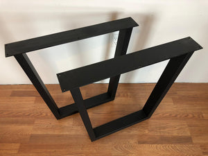 Trapezoid metal dining table base