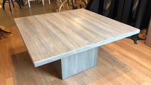 Modern contemporary coffee table in stone gray