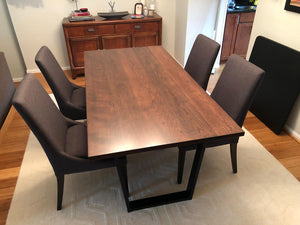 Solid cherry wood dining table