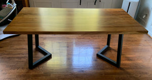 V Style Metal Dining Table Base