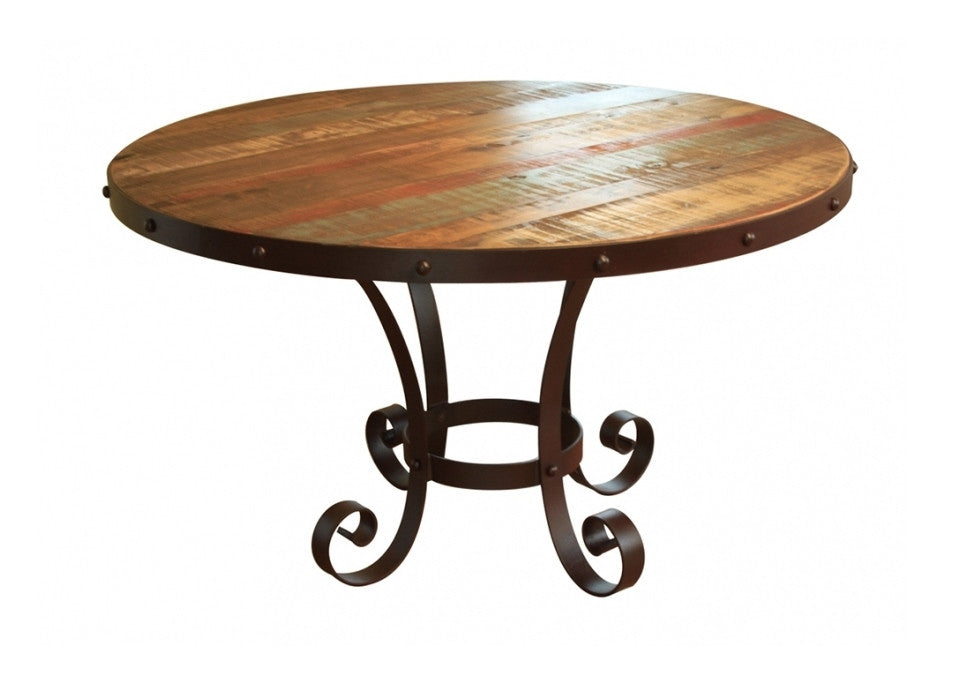 Multicolor Round Dining Table