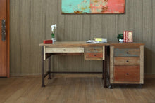 Multi color wood desk