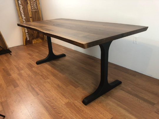 I metal dining table base