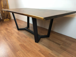 Jax metal dining table base 71""