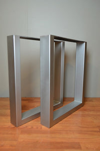 "Rectangular Metal Base - Matte Nickel with 1""x3"" tubing"