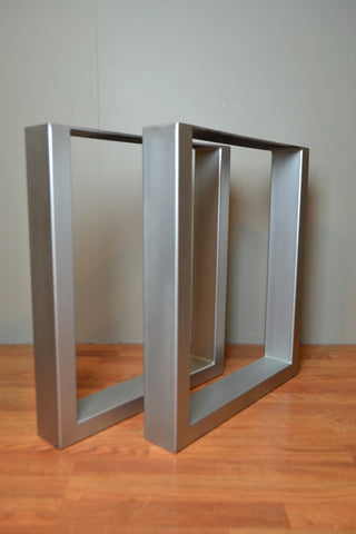 Rectangular Metal Legs in Matte Nickel