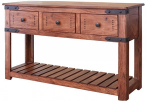 Modern industrial console three-drawer