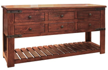 Modern industrial console six-drawer