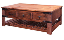 Modern industrial coffee table six-drawer