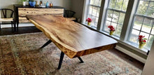 Live Edge Conference Table, Live Edge Dining Table, Live Edge Table, Acacia Wood, Wood Slab, Custom Made Live
