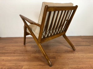 modern teak lounger chair