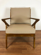 midcentury teak lounge chair