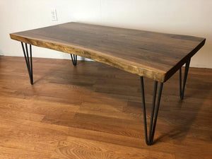 Live edge walnut wood slab coffee table