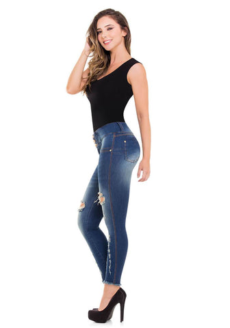EVELYN - Colombian Push Up Jeans Butt Lifter Fajas Levanta Cola Jean