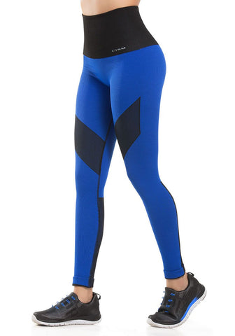 913 - Ultra Compression and Abdomen Control Fit Legging Royal Blue