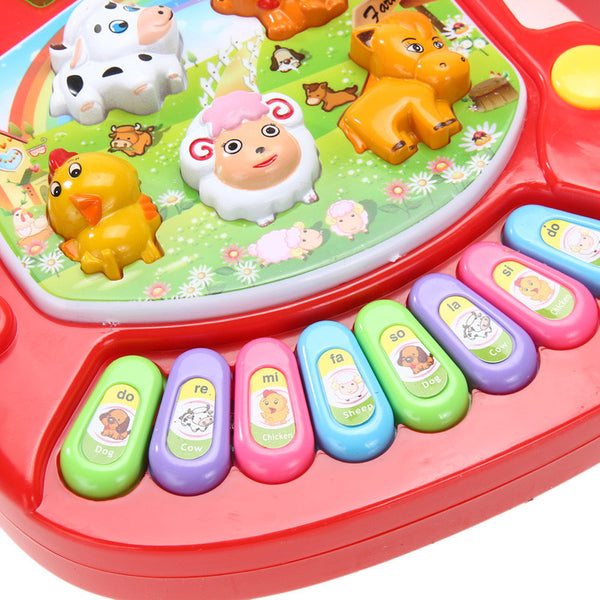 Baby Kids Musical Toy Educational Animal Farm Piano Developmental Music Toy with Animal Sound Cute Mini Sounding Toy