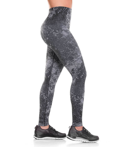 926 - Ultra Compression and Abdomen Control Fit Legging Lunar Gray