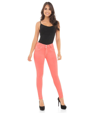 ANTONIA - NEON Push Up Jeans by BONITABELLA