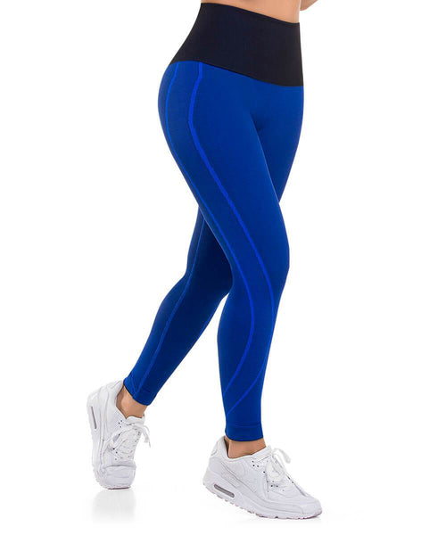906 - Ultra Compression and Abdomen Control Fit Legging Royal Blue