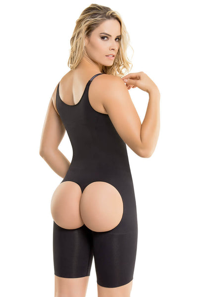 1582 - Seamless Mid-Thigh Ultra Butt-Lifting Thermal Bodysuit