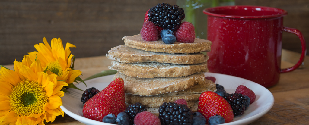 Whole Grain Oat Pancakes (Gluten Free)