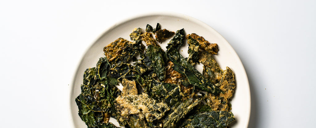 Baked Cumin and Cayenne Kale Chips