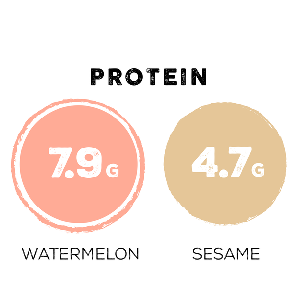 protein of watermelon vs sesame seeds