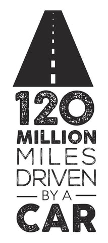 120 million miles driven by a car