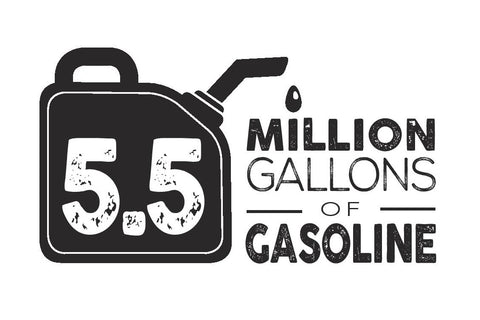 5.5 million gallons of gasoline