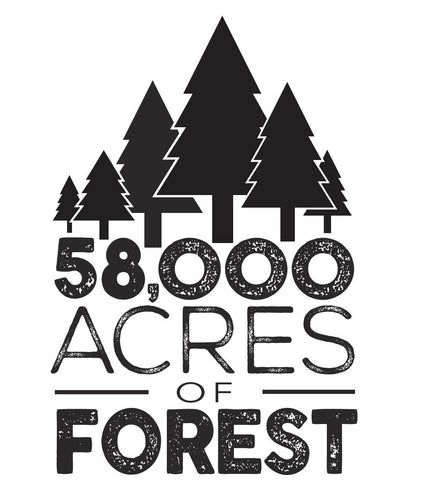 58,000 acres of forest