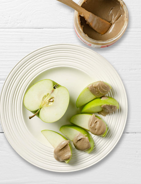 Seed Butter on apples