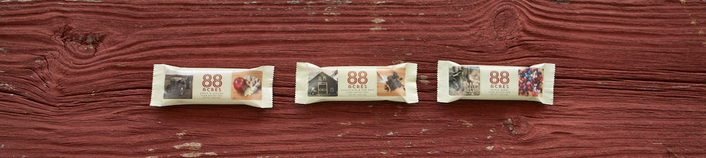 88 acres bars packaging